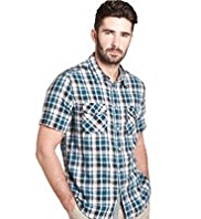Big & Tall North Coast Pure Cotton Double Face Checked Shirt