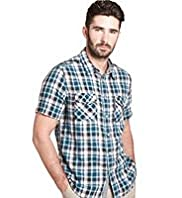 Big & Tall Blue Harbour Pure Cotton Double Face Check Shirt