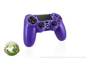 Playstation 4 Controller Skin by Foamy Lizard (TM) ChameleonSkin (Individual) Premium Protective Anti-slip Silicone Grip Case Cover For Wireless PS4 Controller (Pandemonium - Translucent Purple)