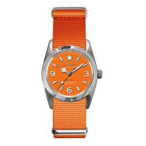 Oxygen - EX-S-ORA-34-OR - Sport - Montre Femme - Quartz Analogique - Cadran Orange - Bracelet Nylon Orange