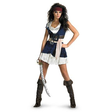Disguise Inc - Pirates Of The Caribbean - Jack Sparrow Sassy Adult Costume