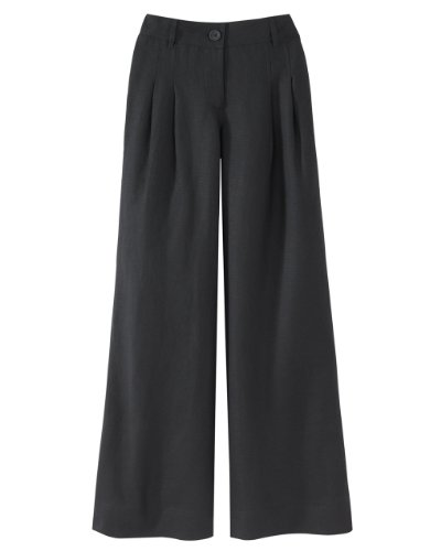 Wide-Leg Linen-Blend Pants by Newport News