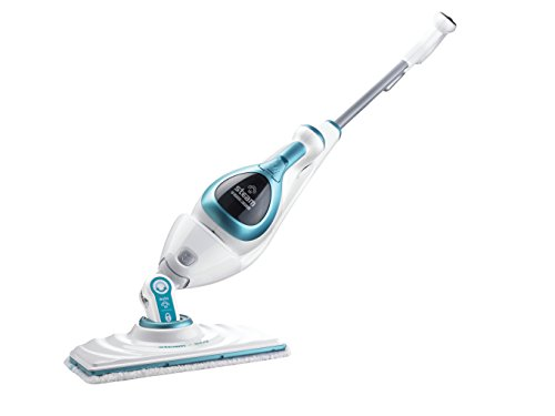 Black & Decker FSMH 1621 230 V 2 in 1 Steam Mop (White/Blue)