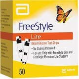 Freestyle Lite Blood Glucose 50 Test Strip Expiry 11/2017