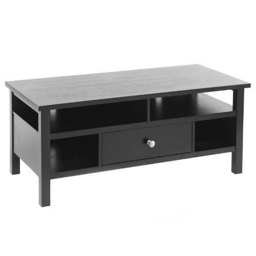 Cheap Bay Shore Collection Flat Screen/Tube TV Stand with Drawer, Black (F68310-01)