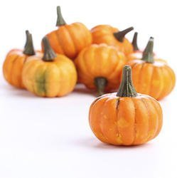 Bag of 16 Artificial Fall Harvest Mini Pumpkins