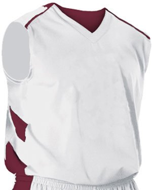 Alleson 539J Adult Varsity Custom Basketball Jerseys WH/MA - WHITE/MAROON AXS alleson athletic youth unisex reversible basketball shorts kelly green white s
