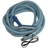 Central Vacuum Cleaner Genuine Style Replacement Hose Designed to Fit Aerus Electrolux 1580, 1590, Lux Centralux Complete with Direct Connect and Pigtail Cord Gray (Lux Vacuum Hose compare prices)