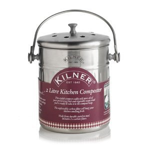 Kilner Collection Stainless Steel 2 Litre Kitchen Composter 0025416