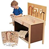 Workbench, tools, and goggles for kids - 15 piece