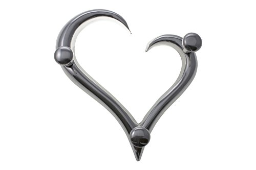 Modern Style Heart Shaped Decorative Wall Coat Hanger By