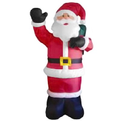 8' Airblown Inflatable Animated Waving Santa Claus Lighted Christmas Yard Art Decoration front-415582