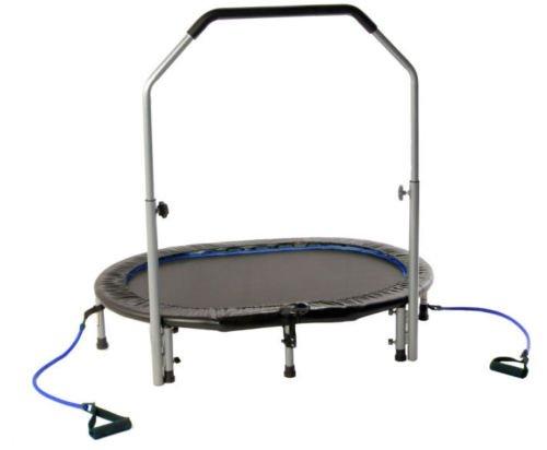 Stamina-Avari-Oval-Jogger-Rebounder-Trampoline-w-Handlebar-and-Monitor-NEW