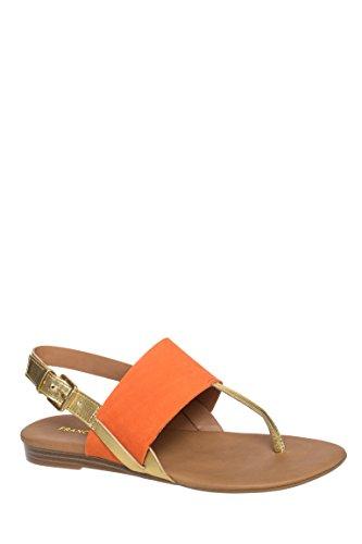 Gesso Low Heel Slingback Sandal