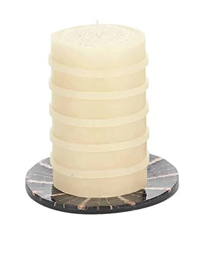 Et Al Designs Ivory Pillar Candle with Ivory Bangles