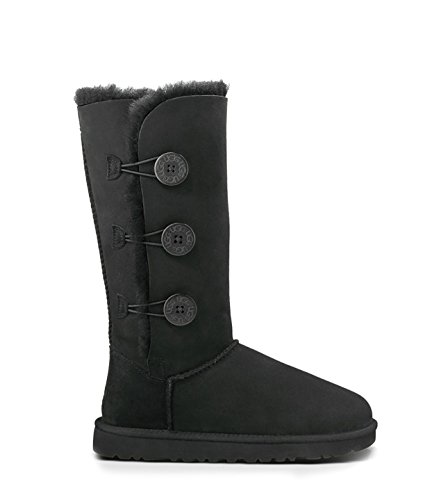 Ugg Women's Bailey Button Triplet Boot, Black, 6 M US