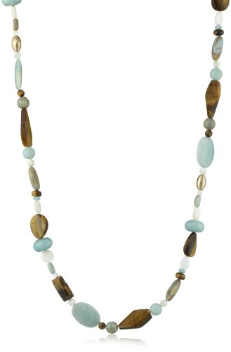 Bronzed by Barse Multi-Stone Long Necklace