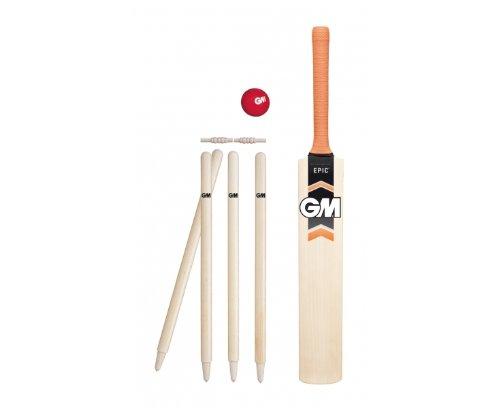 Gunn & Moore Boy's Epic Cricket Cricket Sets - White, Size 2