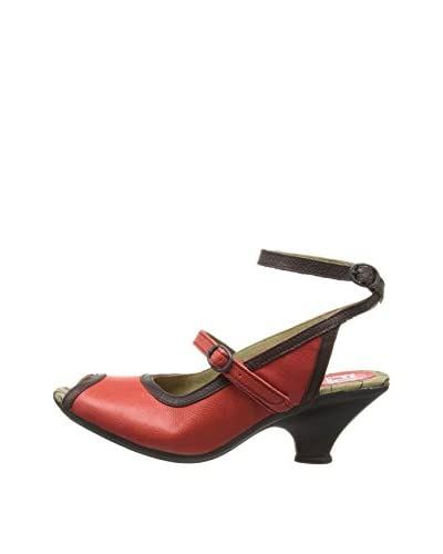 Fly London Sandalo Fall [Rosso/Marrone]