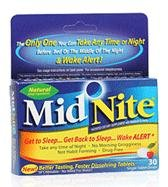MidNite Natural Sleep Supplement, 30-Count Box