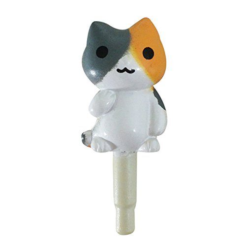 Wrapables Anti-Dust Cutie Cat Plug for Cellphone, Orange/Gray - 1