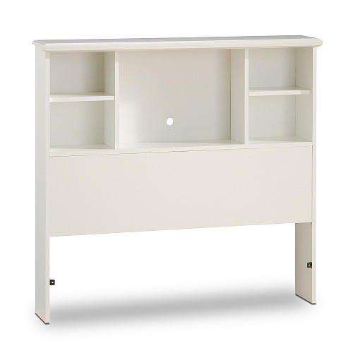 South Shore Sand Castle Twin Bookcase Headboard 39 Inch Pure White