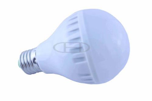 Coffled ®1Pcs 7W E27 High Power Frosted Golf Ball Voice Control Led Light Bulb Warm White Spot