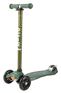 Maxi Micro Scooter - Camo Green with T-bar by Micro Kickboard