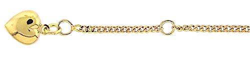Damen Schmuck Gold Fußkettchen Herz aus 333 Gelb Gold ( 25 cm ) ( 1,8 mm ) online kaufen