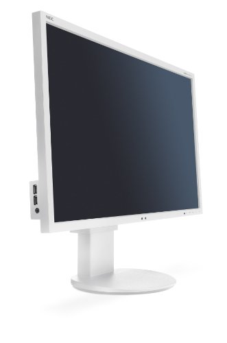 NEC MultiSync EA243WM 24 inch LCD Monitor with LED Backlight - White (16:10, 1000:1, 250cd/m2, 1920 x 1200, 5ms, HDMI)