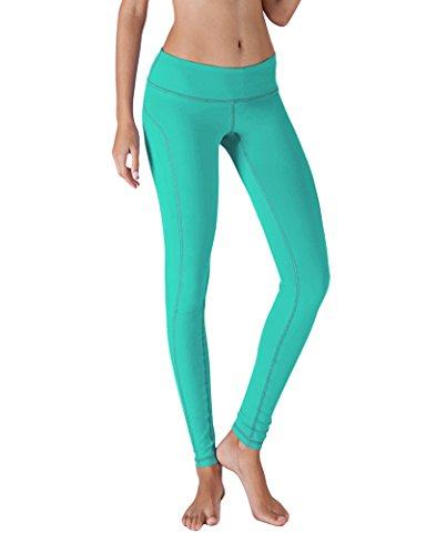 Yoga Reflex - Yoga Pants for Women - Training Yoga Leggings Pant - Hidden Pocket (From XS to 2XL) , Mint , X-Small
