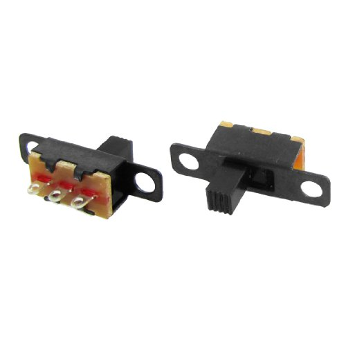 50 Pcs 5mm Height Knob 3 Pin 2 Position 1P2T SPDT Panel Slide Switch 0.5A 50V DC (Spdt Slide Switch compare prices)