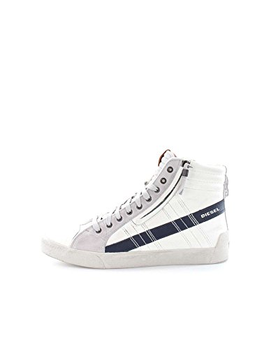DIESEL Y01169 P0919 D-STRING WHITE BLUE SNEAKERS Uomo WHITE BLUE 42