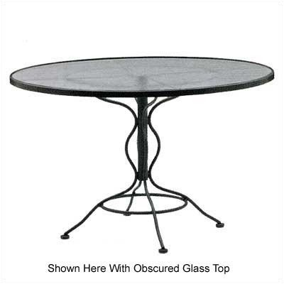 Cheap Woodard 880036 Glass Top Set-Up 48″ Dining Table (B0017BPSPI)