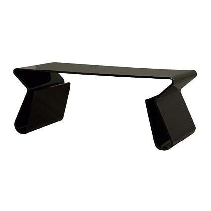 Deena Acrylic Coffee Table with Magazine Rack