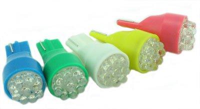 Pair Led Bulbs, 6Led Wedge T15/T4 12V, Red