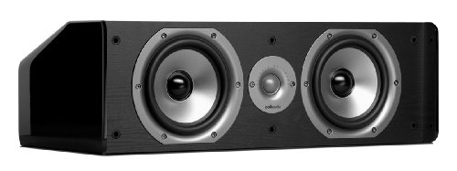 Polk Audio CS20 Center Channel Speaker (Single, Black)