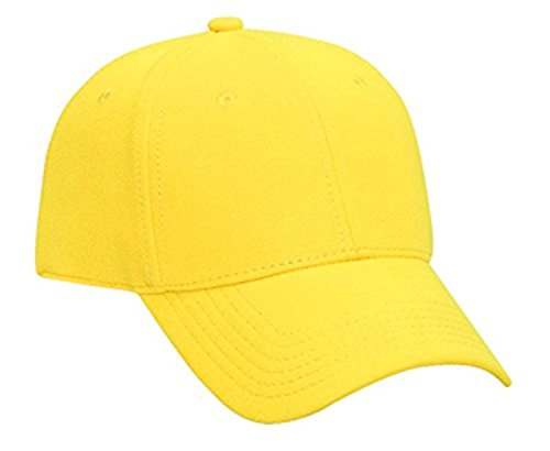 Hats & Caps Shop Pique Knit Low Profile Pro Style Caps - Maize - By TheTargetBuys (Maize Fedora Hat)