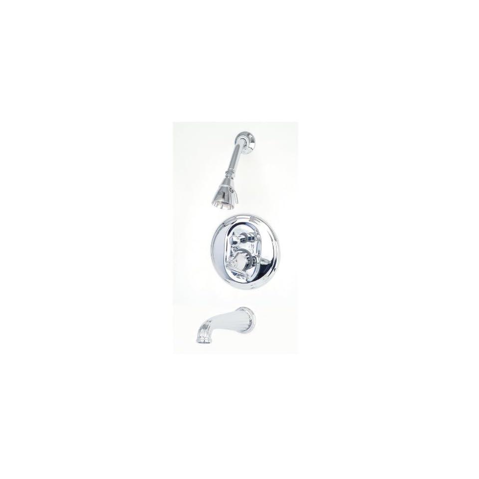 Giagni Celina Polished Chrome 1 Handle Tub & Shower Faucet with Single Function Showerhead C5 PC