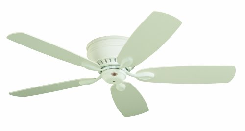 Emerson Ceiling Fans CF905SW Prima Snugger 52-Inch Low Profile Hugger Ceiling Fan With Wall Control, Light Kit Adaptable, Satin White Finish (Ceiling Fan Low Profile White compare prices)