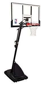 Buy Spalding 66291 Pro Slam Portable Basketball System with 54 Acrylic Backboard by Spalding