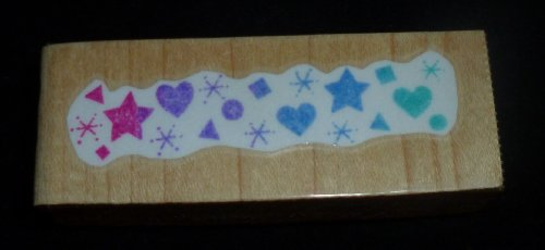Hearts & Stars Rubber Stamp - 1
