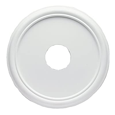 Westinghouse 7773200 16-Inch Smooth White Finish Ceiling Medallion from Westinghouse