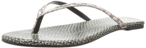 House Of Harlow 1960 Women'S Colton Flip Flop,Brown Snake Leather/Pink,7.5 M Us
