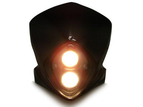 TMSt Universal Motorcycle Stunt Dirt Bike MX Headlight Black Bulbs Suzuki DRZ RZ RM TS RMZ 80 250 Streetfighter