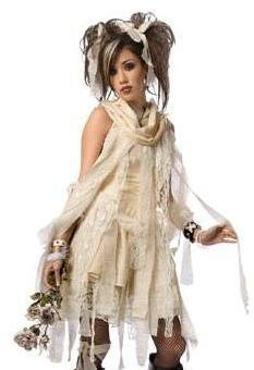 Gothic Mummy Child - Teen Costume-Teen (6-8)