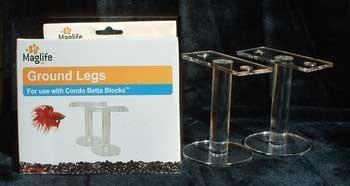 Maglife Usa AMX80215 2-Pack AMX Acrylic Condo Betta Block Legs for Decorating Aquariums, Ground