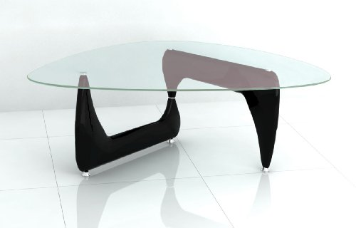 New Isamu Noguchi Inspired Glass Coffee Table