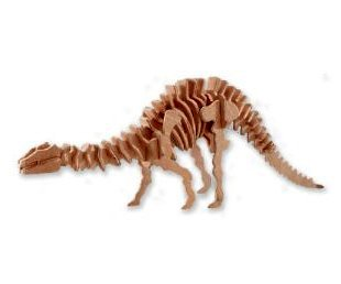3-D Wooden Puzzle - Large Apatosaurus -Affordable Gift for your Little One! Item #DCHI-WPZ-BJ-005 - 1