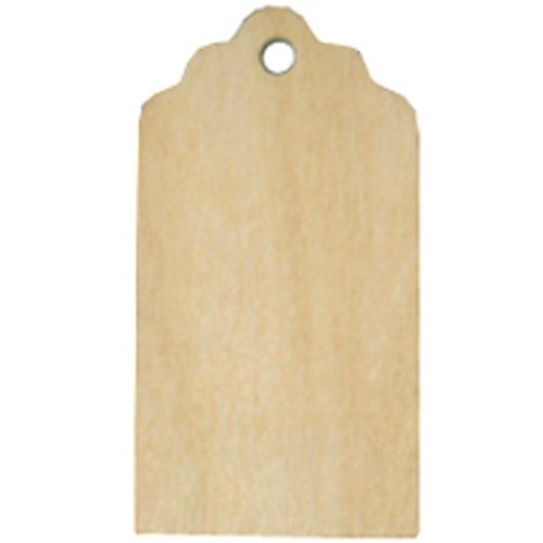 Dress My Cupcake 25-Pack Wood Gift and Favor Tags, Rustic Tag, 3-Inch